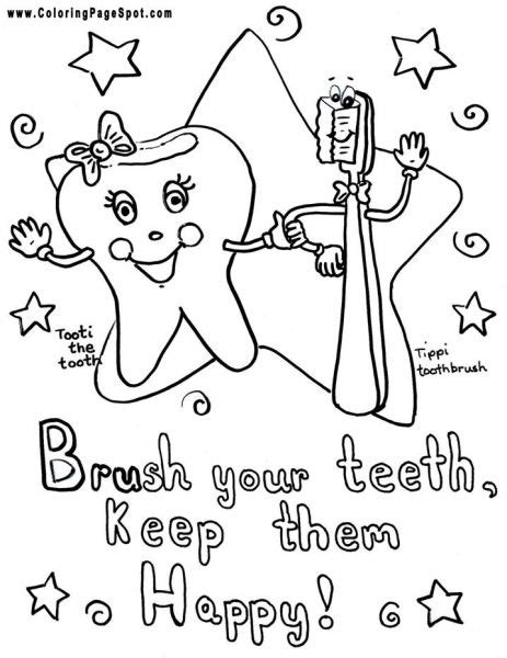 teeth coloring pages preschool teeth coloring pages brush your teeth coloring page
