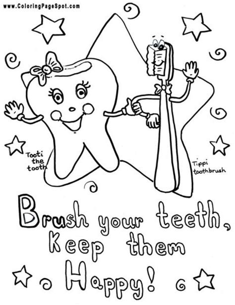 teeth coloring pages brush your teeth coloring page