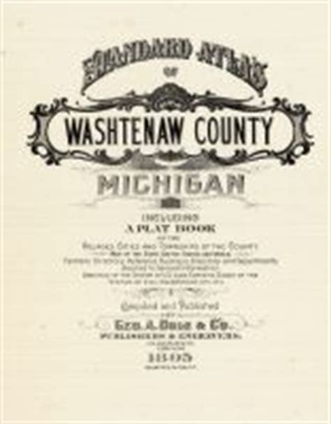 Washtenaw County Property Records Washtenaw County 1895 Michigan Historical Atlas
