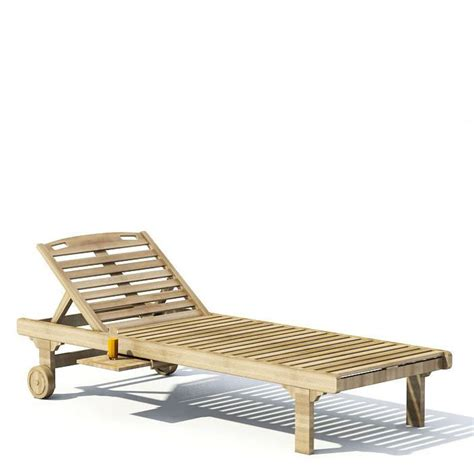 Wooden Chaise Lounge Wooden Chaise Lounge 3d Model Cgtrader
