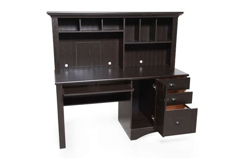 sauder harbor view computer desk and hutch sauder harbor view antiqued black computer desk with hutch