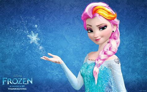 elsa frozen punk edit disney princess wallpaper 36601729 fanpop
