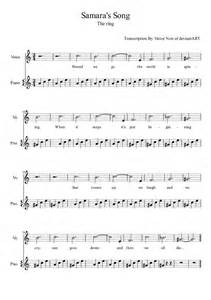 Samara s song sheet music for piano and vocals by noiporcs on