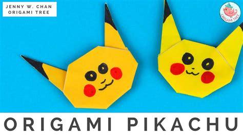 How To Make Pikachu Origami - origami pikachu allfreepapercrafts