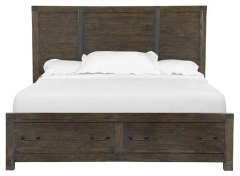 Pine Bed Headboards by Magnussen Pine Hill Panel Bed Storage Panel Beds By