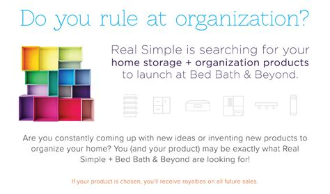 bed bath and beyond sale submit your product ideas to real simple