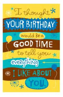 quot everything i like about you quot birthday printable card