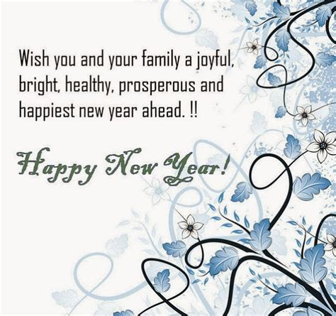 wish you and your family a joyful new year 140 word sms