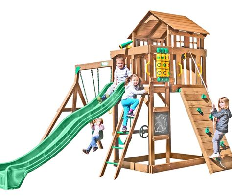 creative play swing sets creative playthings playtime seminole wooden swing set