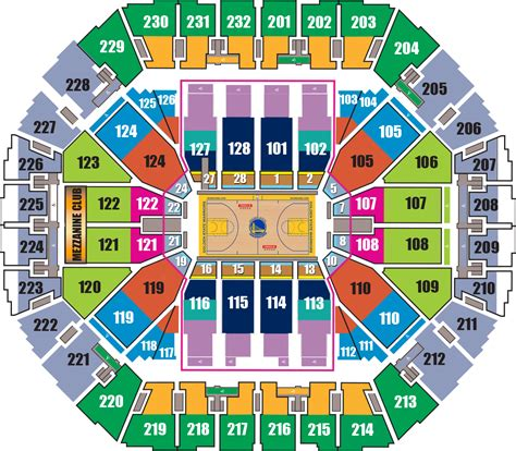 oakland arena seating oracle seating chart seating charts oracle arena and