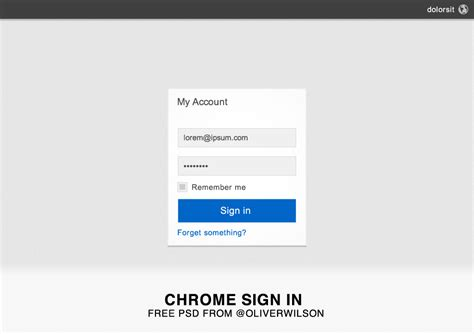 chrome sign in chrome style sign in free psd by oliverpw on deviantart