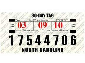 new car temporary registration nc vehicle dealers to get easier to read temporary tags