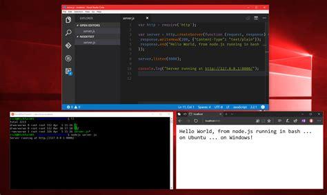 console windows windows 10 creators update what s new in bash wsl