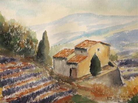 xavier grange grange de derboussas watercolour on paper jean xavier