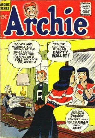 archie vol 1 1956 july archie comics wiki