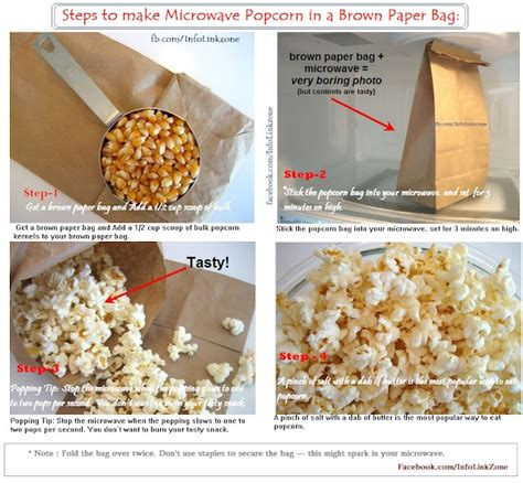How To Make Popcorn In A Brown Paper Bag - pin by useful information on useful tips