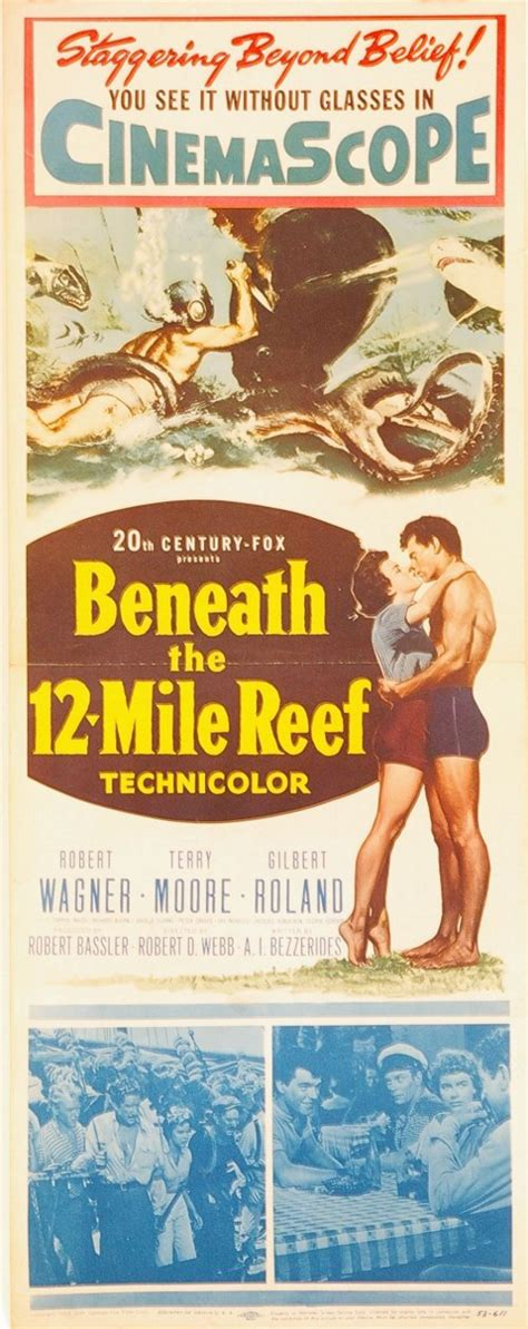 beneath the 12 mile reef 1953 robert wagner museum of florida history florida posters