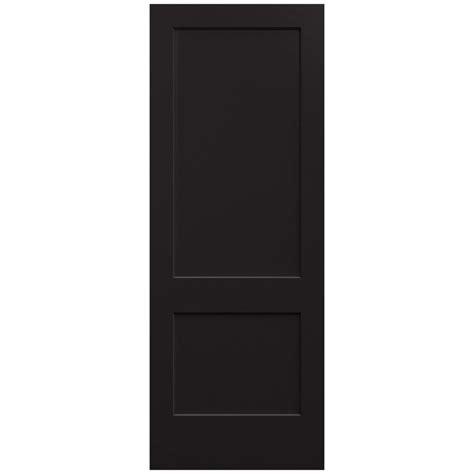 Jeld Wen 36 In X 96 In Monroe Black Painted Smooth Solid 36 X 96 Interior Door
