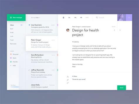layout app desktop mail client app by jakub antal 237 k dribbble