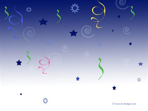 background design for email balloon streamers and stars free party desktop wallpaper