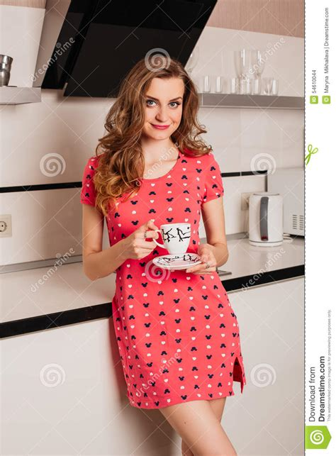 Stunning Hair From Your Kitchen by Beautiful With Hair In The Kitchen Stock Photo