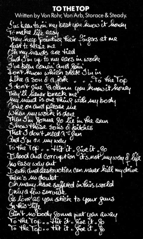 lyrics to the rag top 1982 one vice at a time krokus official homepage
