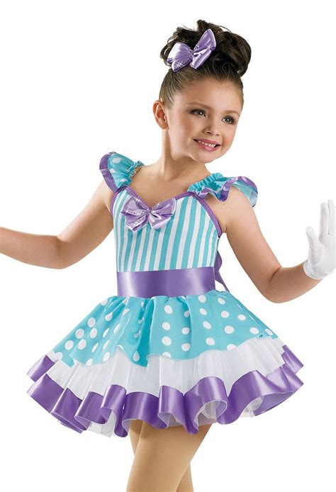 dance girl dance girls striped and dotted dress weissman costumes summer