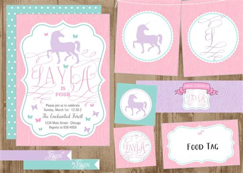printable unicorn meat label children s party the homespun hostess