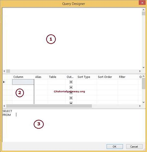 sql query designer tutorial sql query builder to design sql queries