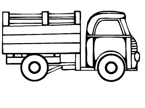 Coloring Page Truck Coloring Pages 4 Truck Color Pages
