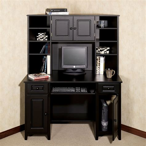 Small Black Desk With Hutch Corner Desk Black Target Black Desks With Hutch