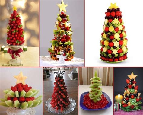 wonderful diy food christmas tree fruit arrangements