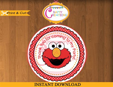 printable elmo stickers instant download elmo favor tags sesame street sticker party