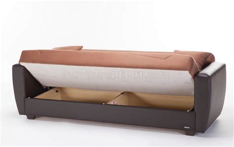 power beds power rainbow brown sofa bed in fabric by sunset