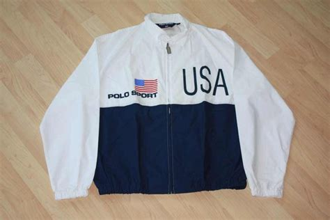 Jaket Bomber Grey Polos Unisex All Size Tebal vintage polo sport ralph windbreaker jacket size