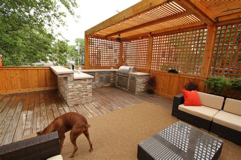 exterior kitchen outdoor kitchen and deck