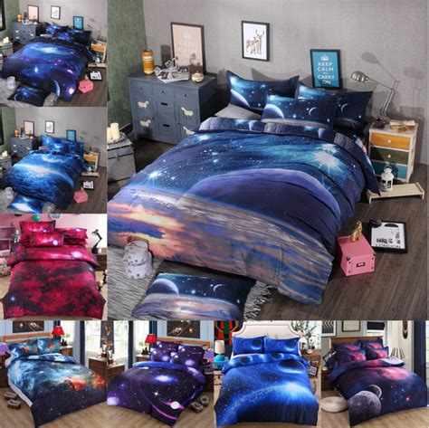Bedclothes 3d Galaxy Bedding Sets Twin Queen Size Universe Themed Bedding Size