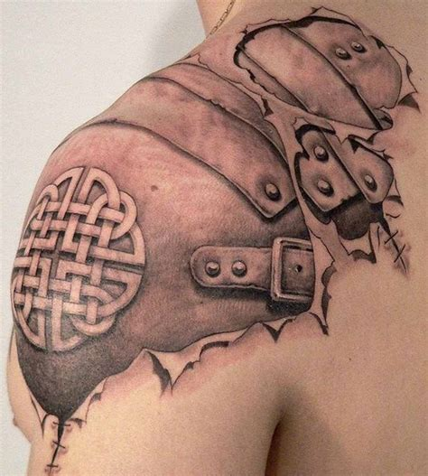tattoo shoulder armor 3 d celtic leather armor upperarm and shoulder tattoo