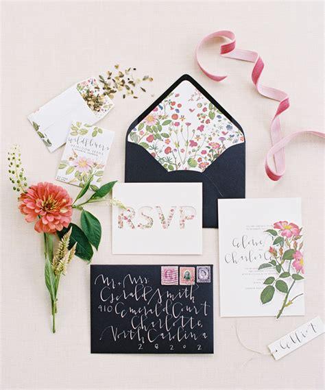 envelope liners for wedding invitations southern wedding floral envelope liner