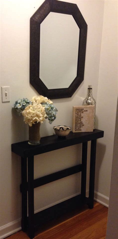 Entry Way Table Decor Furniture Diy Reclaimed Wood Entryway Console Table