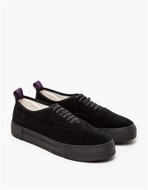 of shoes black suede mothers eytys low top suede sneakers in black for lyst