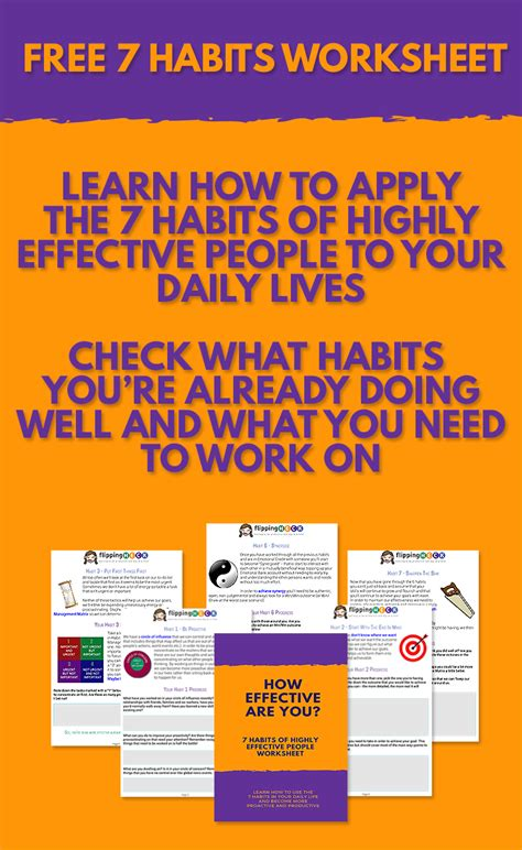 7 Habits Of Highly Effective Worksheets by 7 Habits Of Highly Effective Free Worksheet