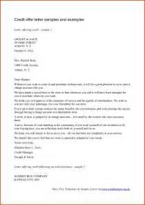 letter sample offer letter template credit offer letter