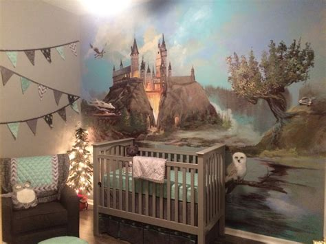 baby room wall murals a harry potter inspired nursery project nursery