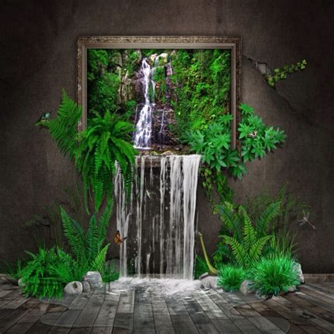 indoor waterfall inspiration places pinterest