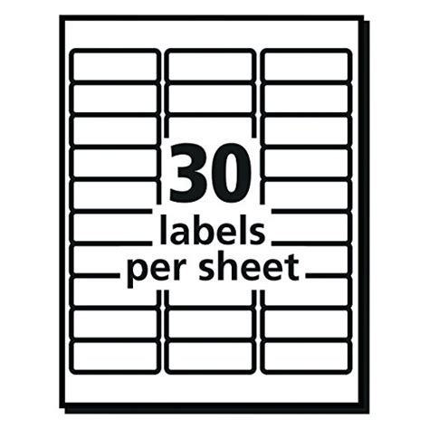 avery templates 5260 avery 5260 easy peel mailing address labels laser 1 x 2