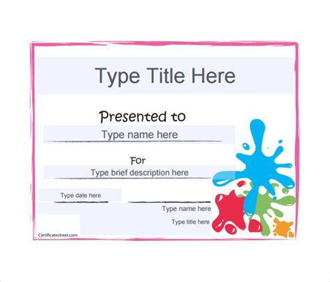 free reward card template free certificate templates certificate template