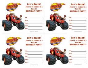 blaze and the monster machines birthday invitations free