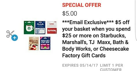 tj maxx printable gift card mother s day deals 2017 5 off select gift cards