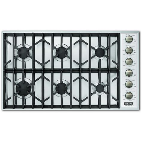 Vikings Cooktop viking vgsu164 6b 36 inch professional series gas cooktop with 6 burners stainless